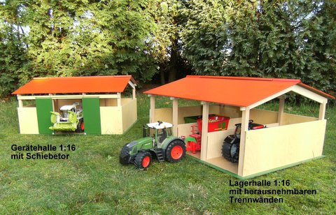 holzspielzeug selber bauen bauernhof kids globe bauernhof maschinenhalle f r siku amazon. Black Bedroom Furniture Sets. Home Design Ideas